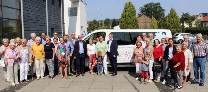 Miteinander- Füreinander Großenlüder e.V. erhält Bürgerbus von der Landesstiftung Miteinander-in-Hessen